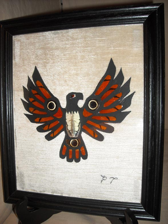 Indian Headdress From Butterfly Wings Art By Phil Thomason Of